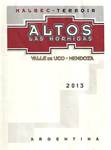 Altos las Hormigas 'Terroir' Malbec