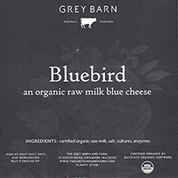 Grey Barn Bluebird cheese